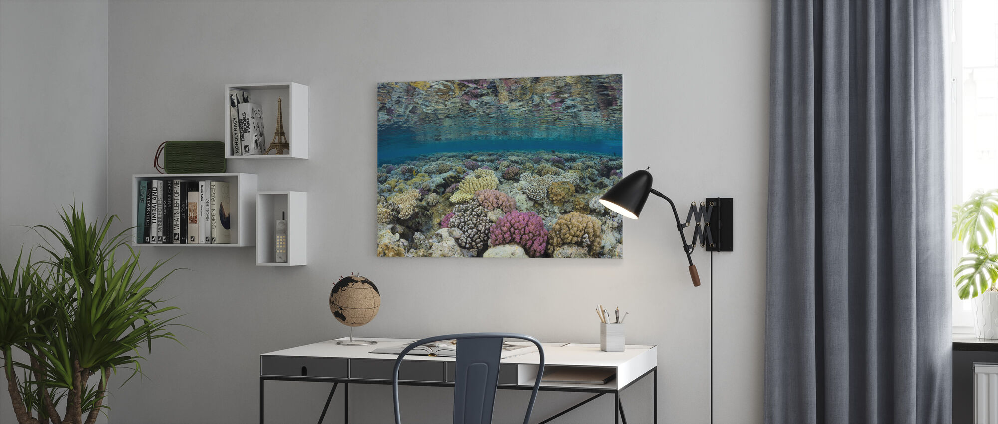 Shallow Reef - Canvas print - Office