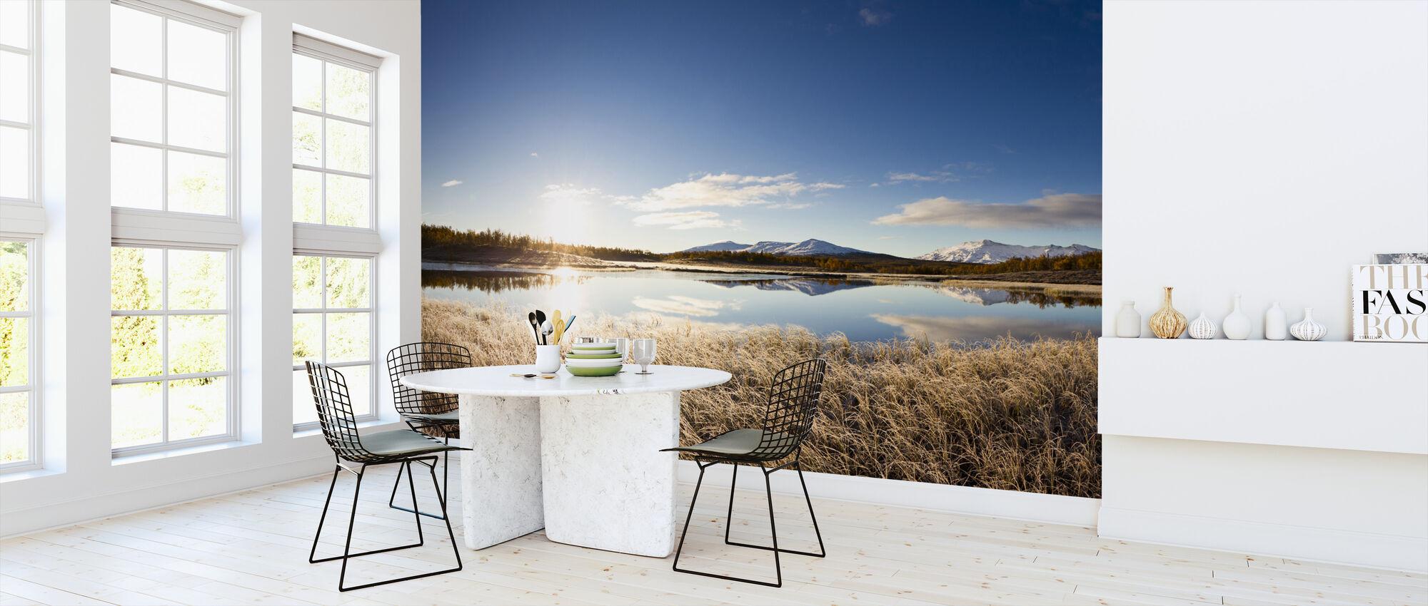 Nordsvensk landskap - Tapet - Kjøkken