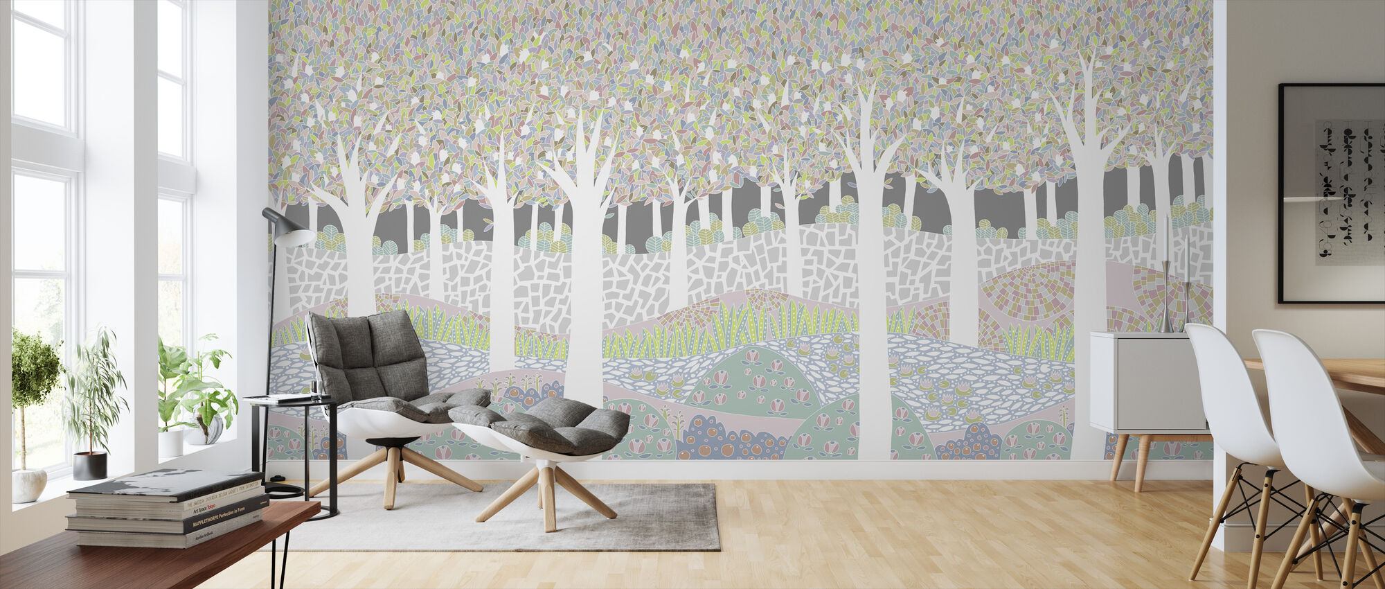 Bird Forest XL - Wallpaper - Living Room