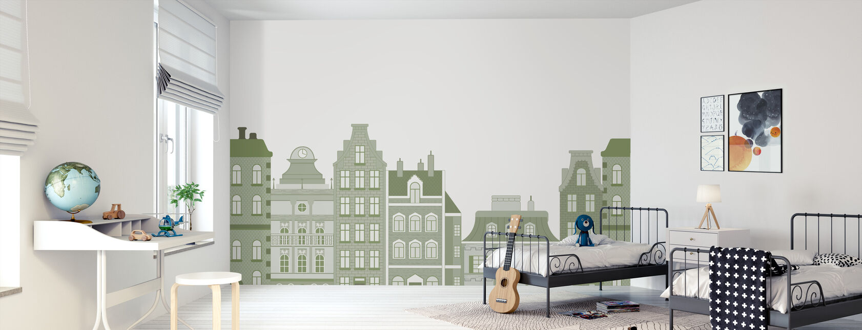 Old Town Green - Wallpaper - Kids Room