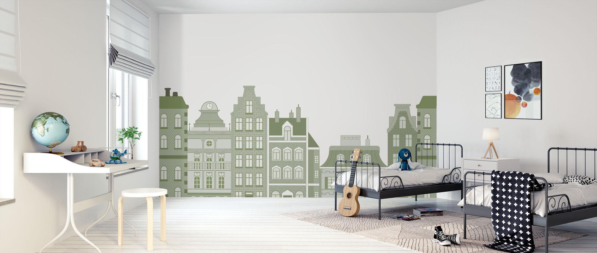 Old Town Green - Wallpaper - Kids Room