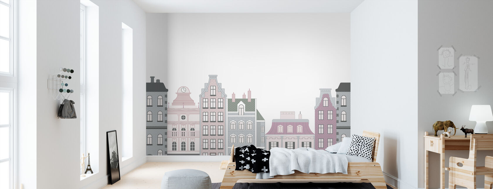 Old Town Pink - Wallpaper - Kids Room
