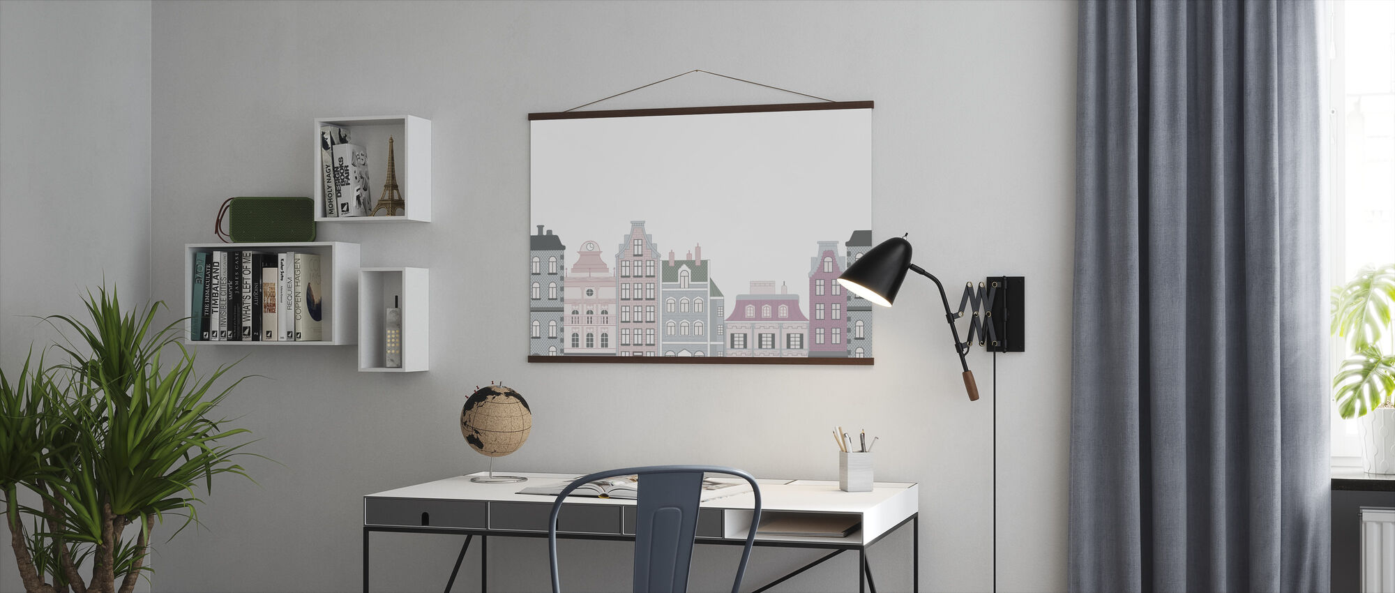 Old Town Pink - Poster - Office