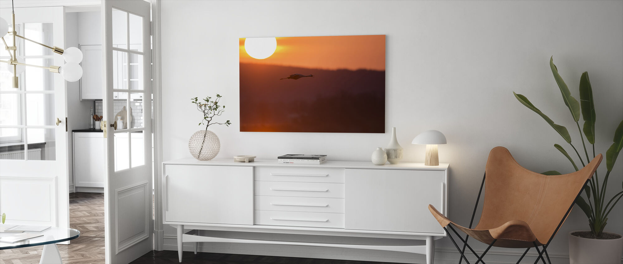 Sunrise at Horborga Lake - Sweden - Canvas print - Living Room