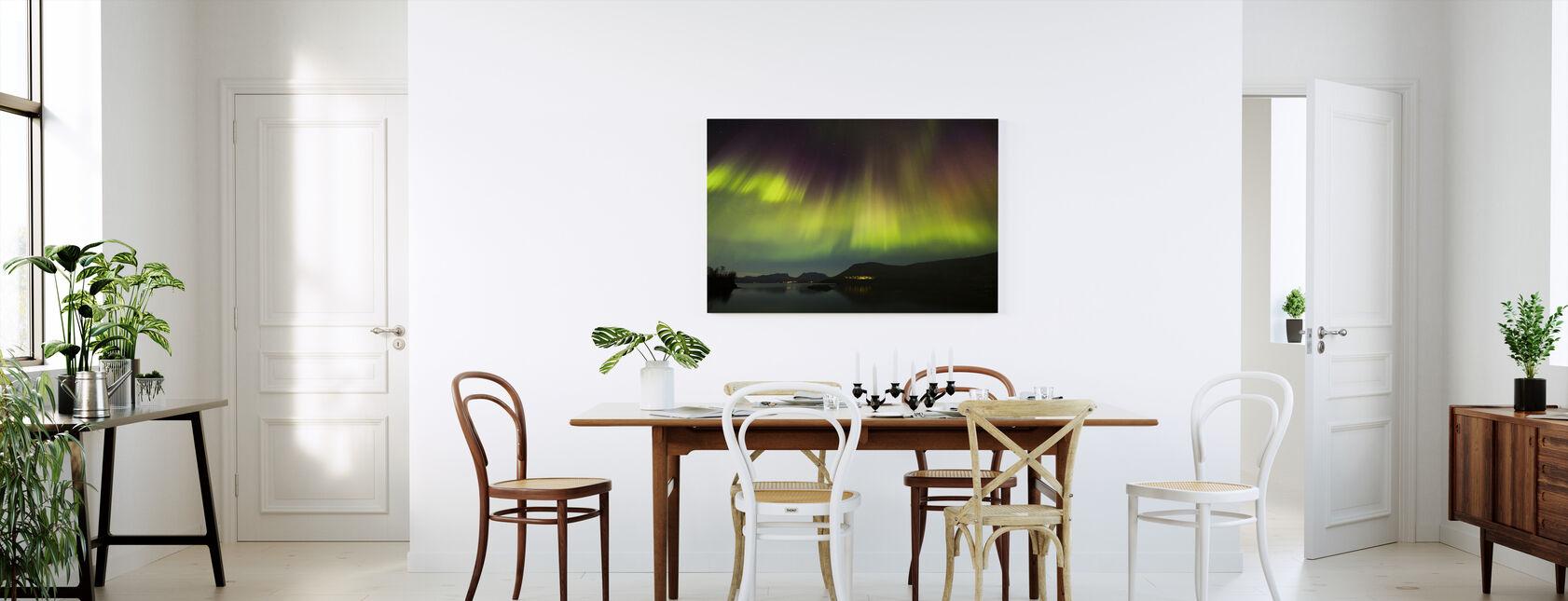 Northern Lights in Torneträsk - Sweden - Lerretsbilde - Kjøkken