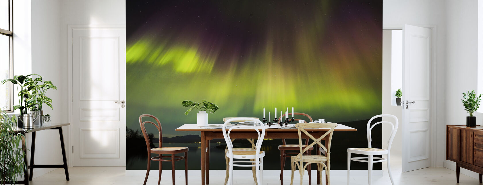 Northern Lights in Torneträsk - Sweden - Wallpaper - Kitchen