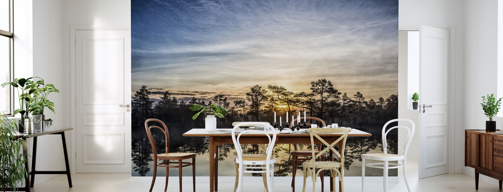 Lago en Hällefors - Suecia - Papel pintado - Cocina