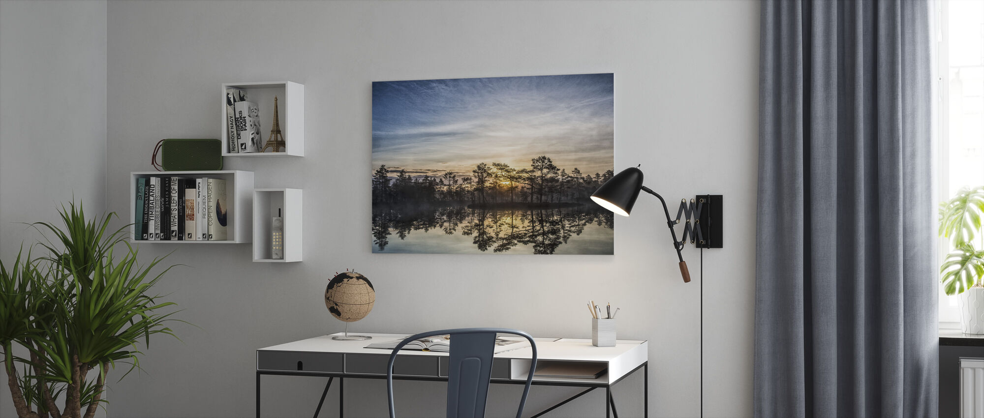 Lake in Hällefors - Sweden - Canvas print - Office