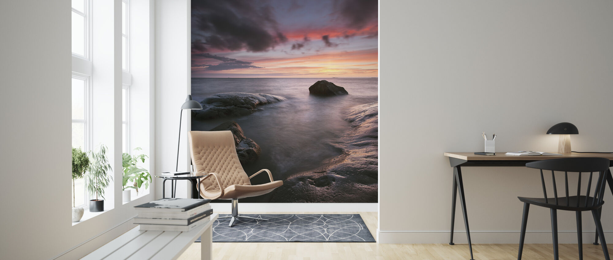 Sunset, Hönö - Sweden - Wallpaper - Living Room