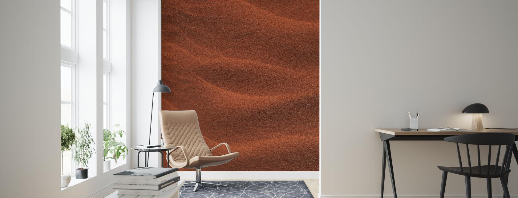 Red Rippled Sand - Wallpaper - Living Room