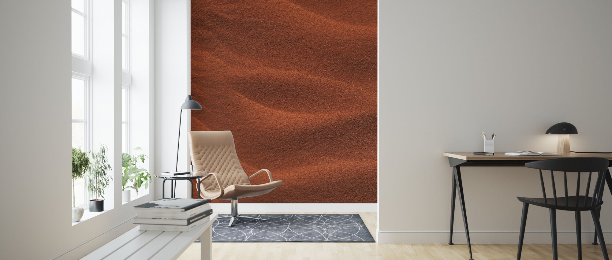 Red Rippled Sand - Wallpaper - Living Room