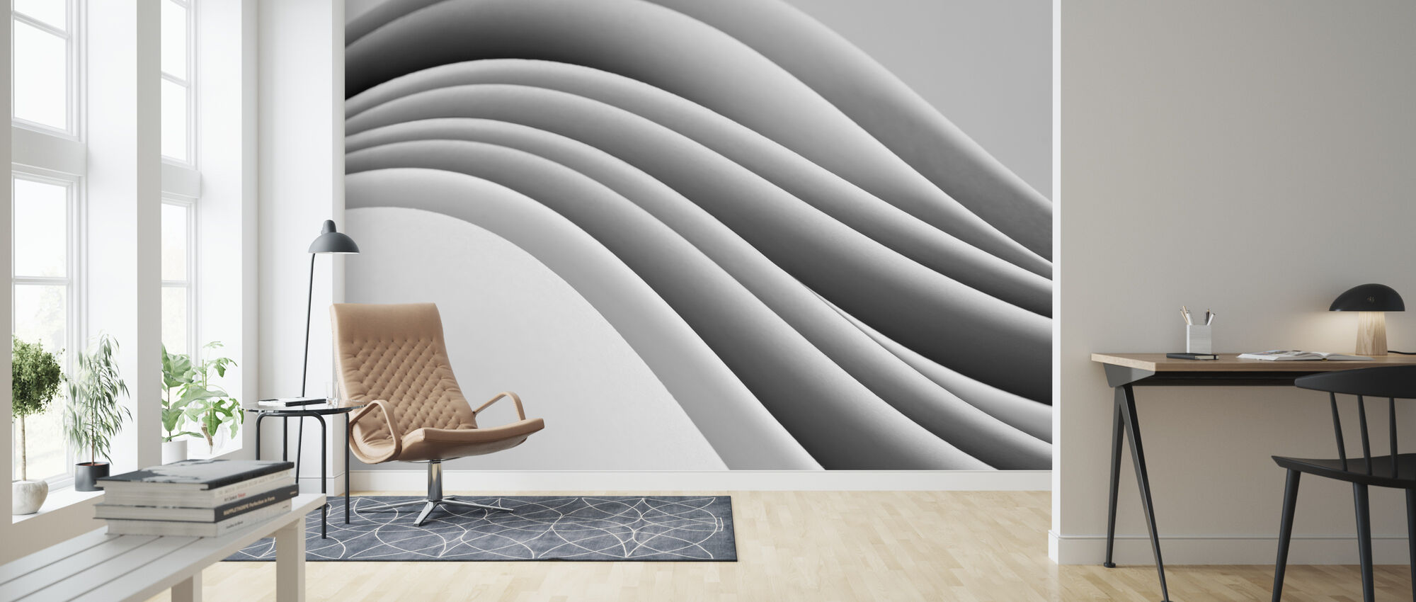 Flowing Paper - Wallpaper - Living Room