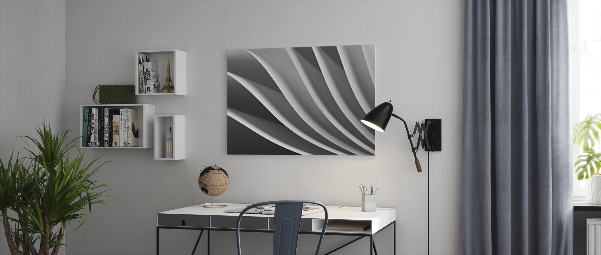 Paper Wave - Canvas print - Office