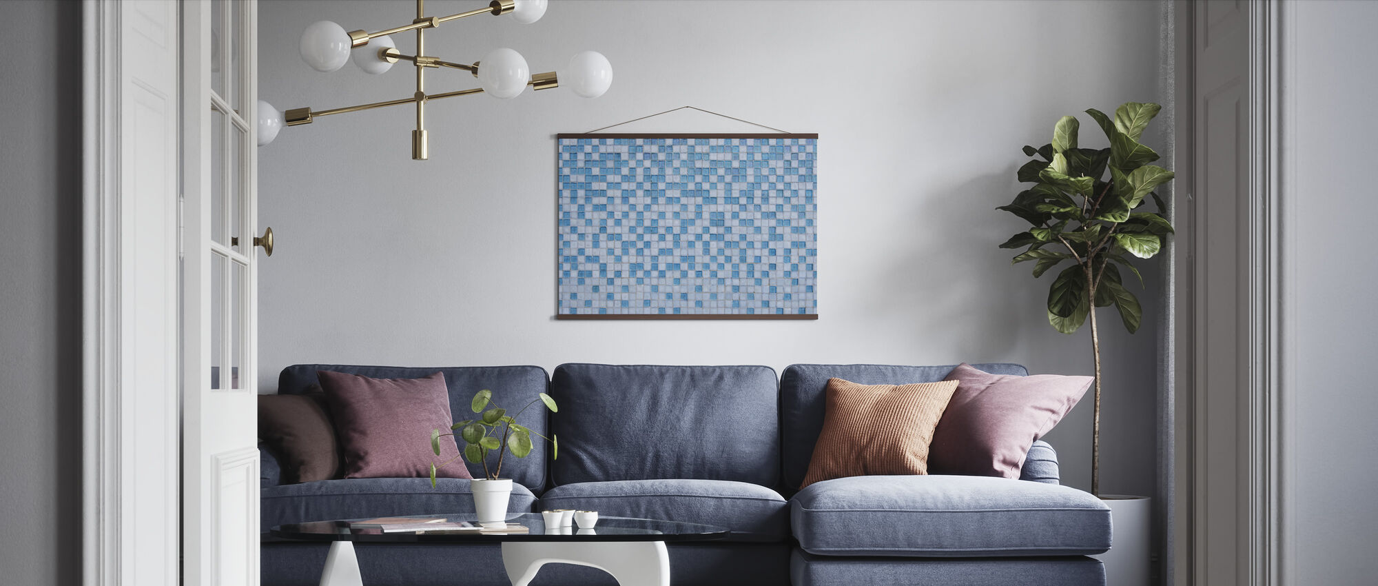 Miami Mosaic - Poster - Living Room