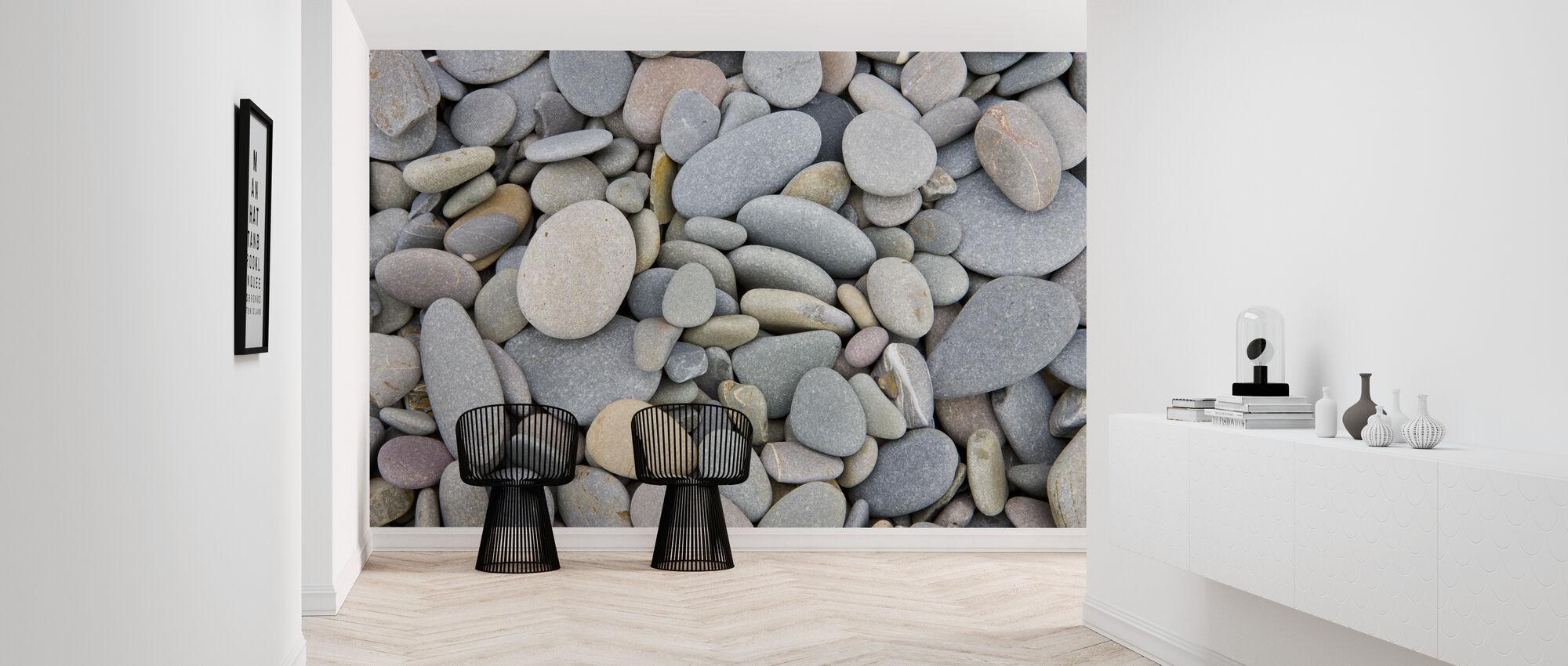 Pebbles on Sandymouth Beach - Wallpaper - Hallway