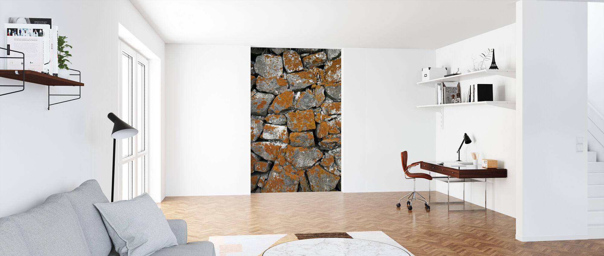 Icelandic Stonewall - Wallpaper - Office