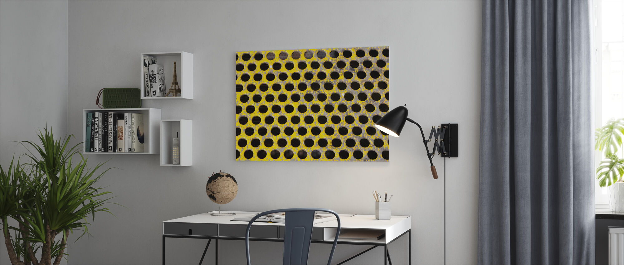Old Perforated Metal Plate - Canvas print - Office