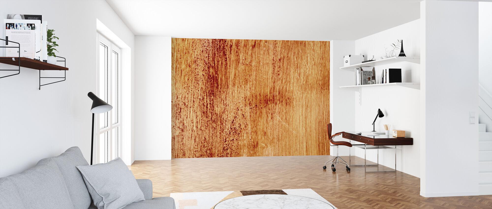 Bleeding Wood Wall - Wallpaper - Office