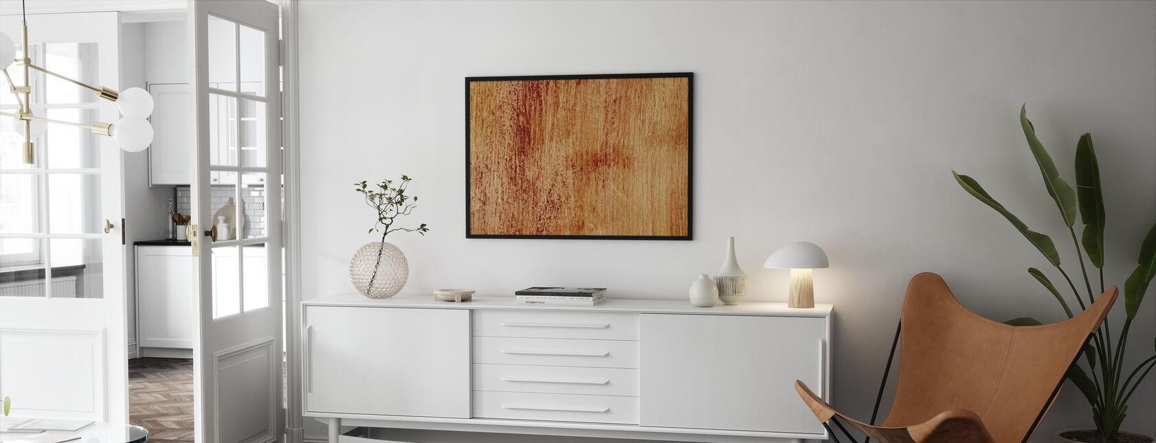 Blutendes Holz Wand - Gerahmtes bild - Wohnzimmer