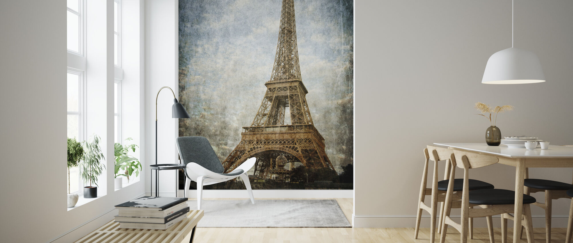Vintage Eiffel Tower - Wallpaper - Living Room