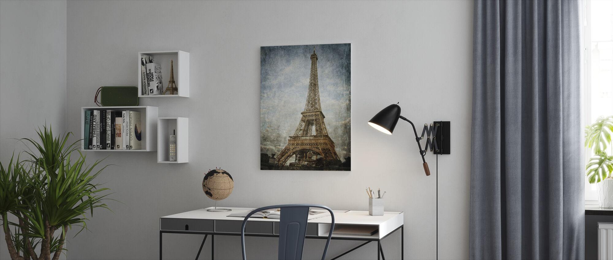 Vintage Eiffel Tower - Canvas print - Office