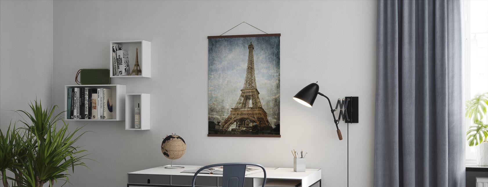 Vintage Eiffeltornet - Poster - Kontor