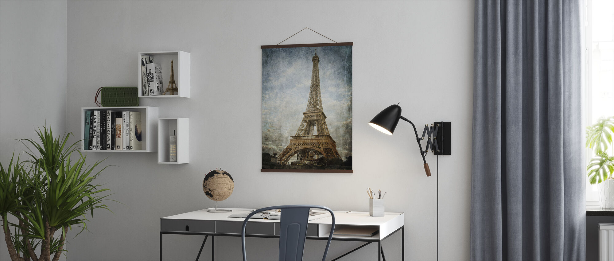 Vintage Eiffel Tower - Poster - Office
