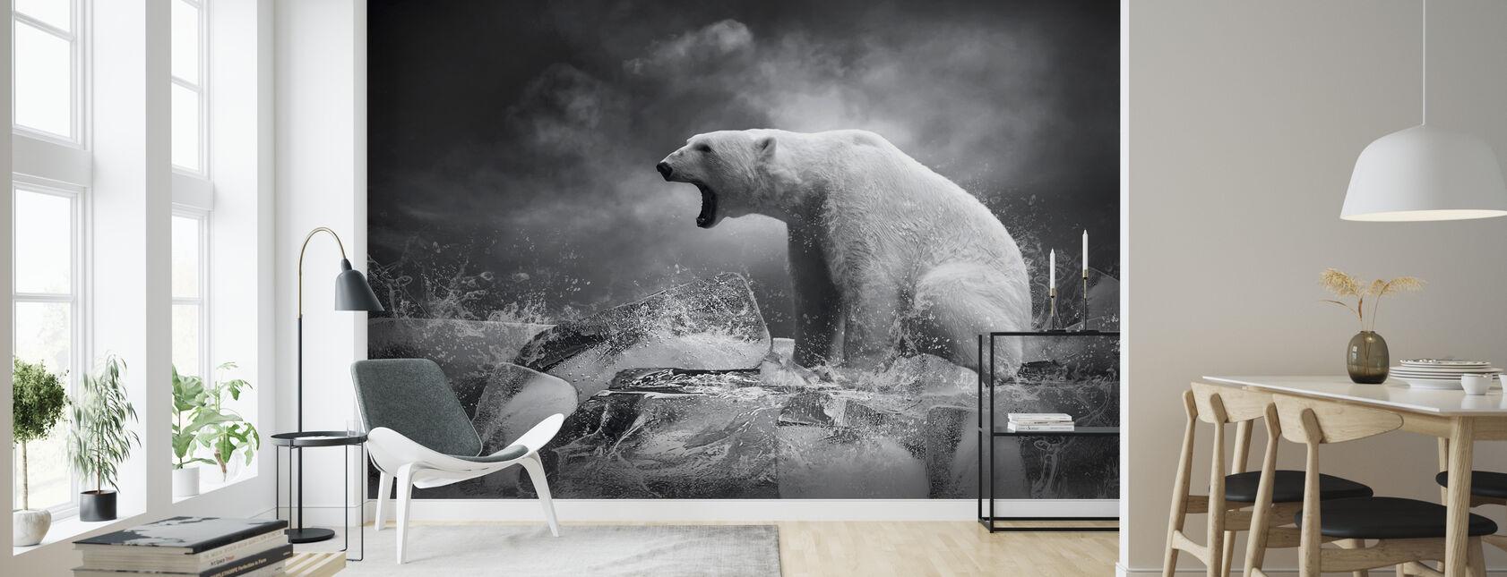 Valkoinen jääkarhun metsästäjä - Tapetti - Olohuone