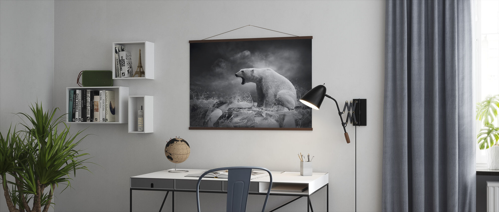 White Polar Bear Hunter - Poster - Office