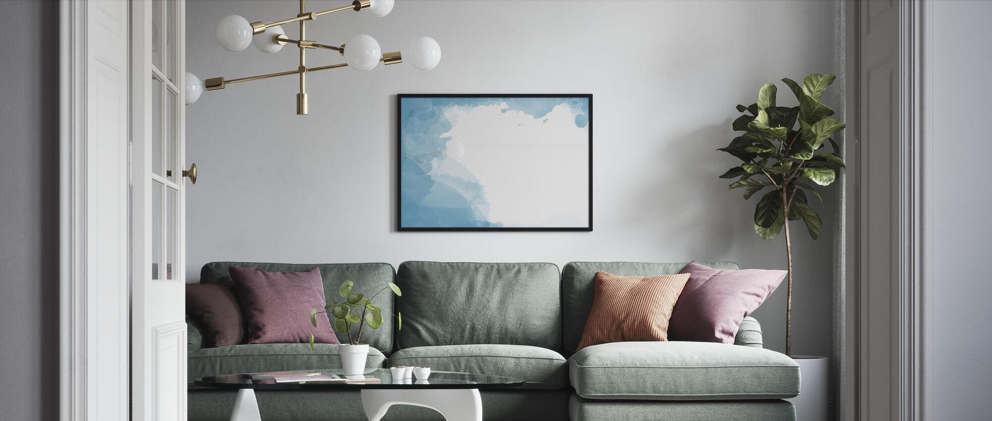 Watercolor Frame - Framed print - Living Room