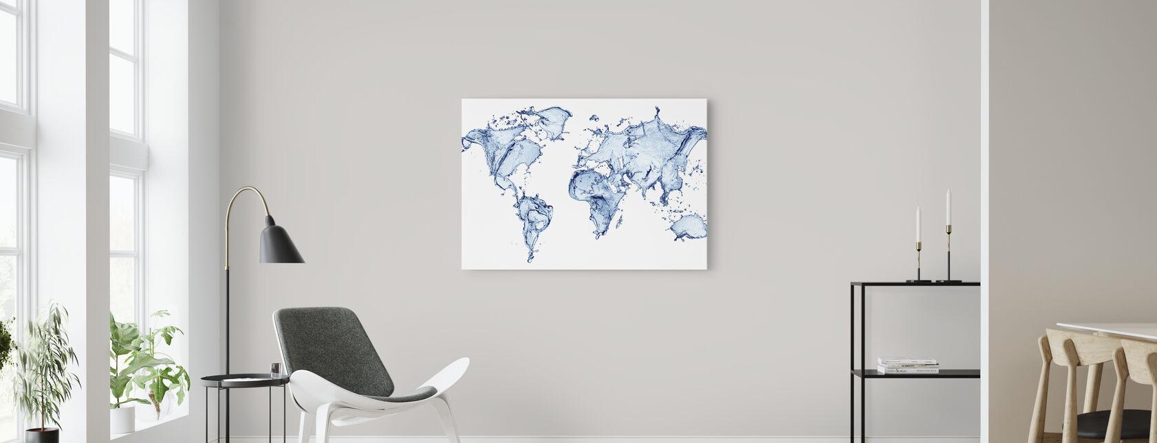 Monde de l'eau - Impression sur toile - Salle à manger