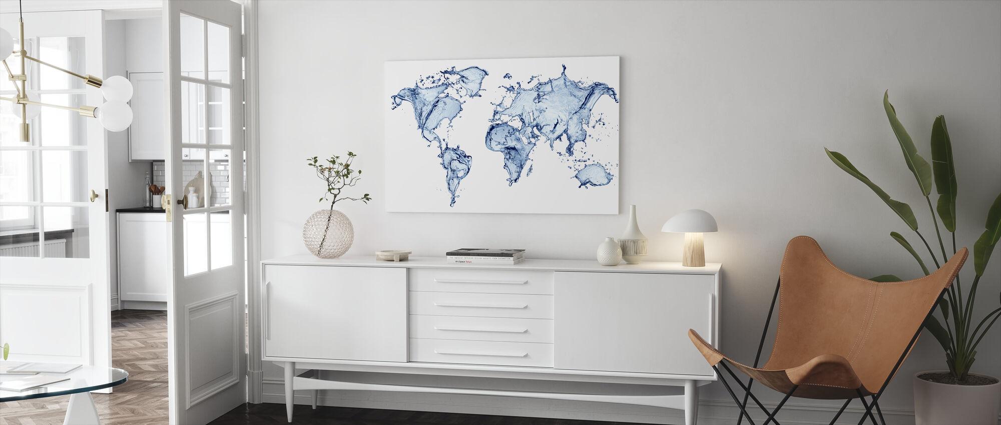 Vatten Världen - Canvastavla - Vardagsrum