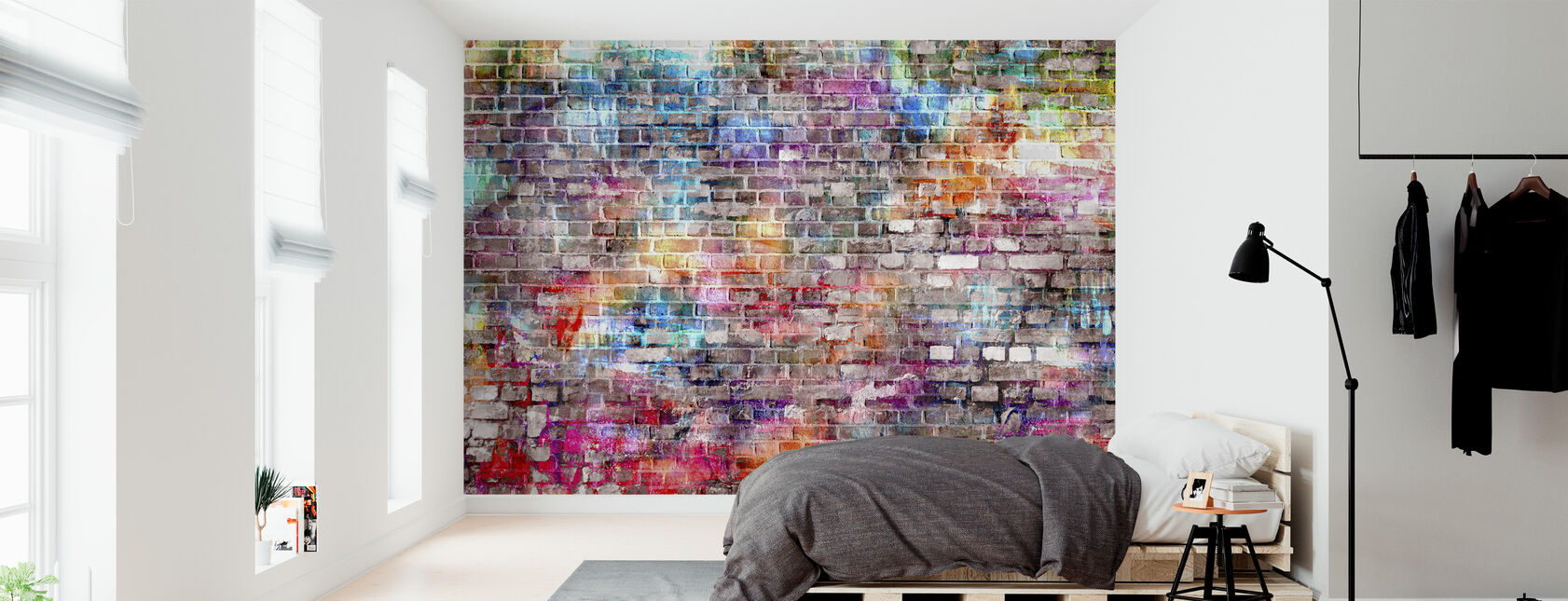 Urban Art Bricks - Wallpaper - Bedroom