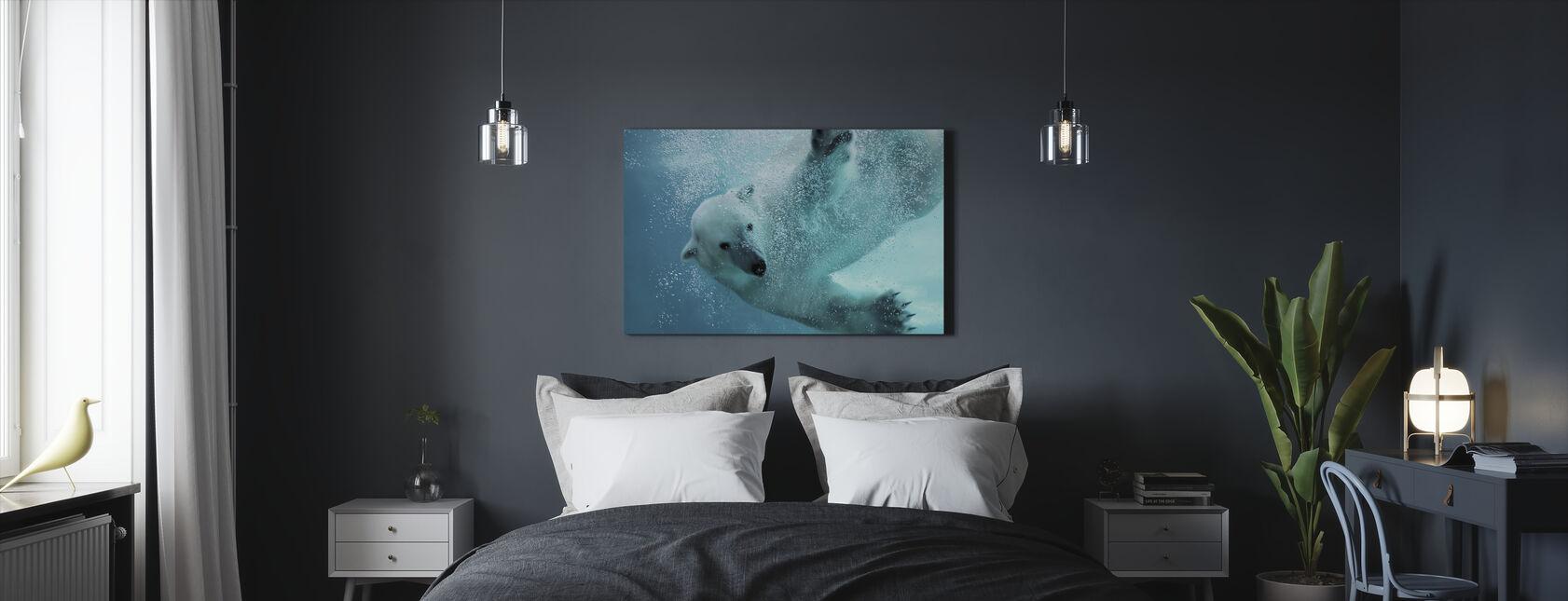 Underwater Polar Bear - Canvas print - Bedroom