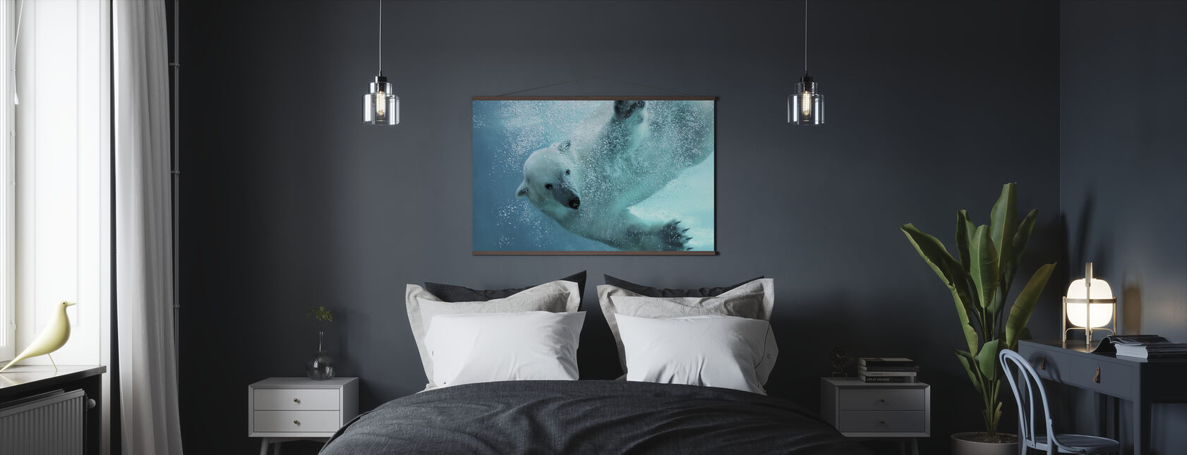 Underwater Polar Bear - Poster - Bedroom