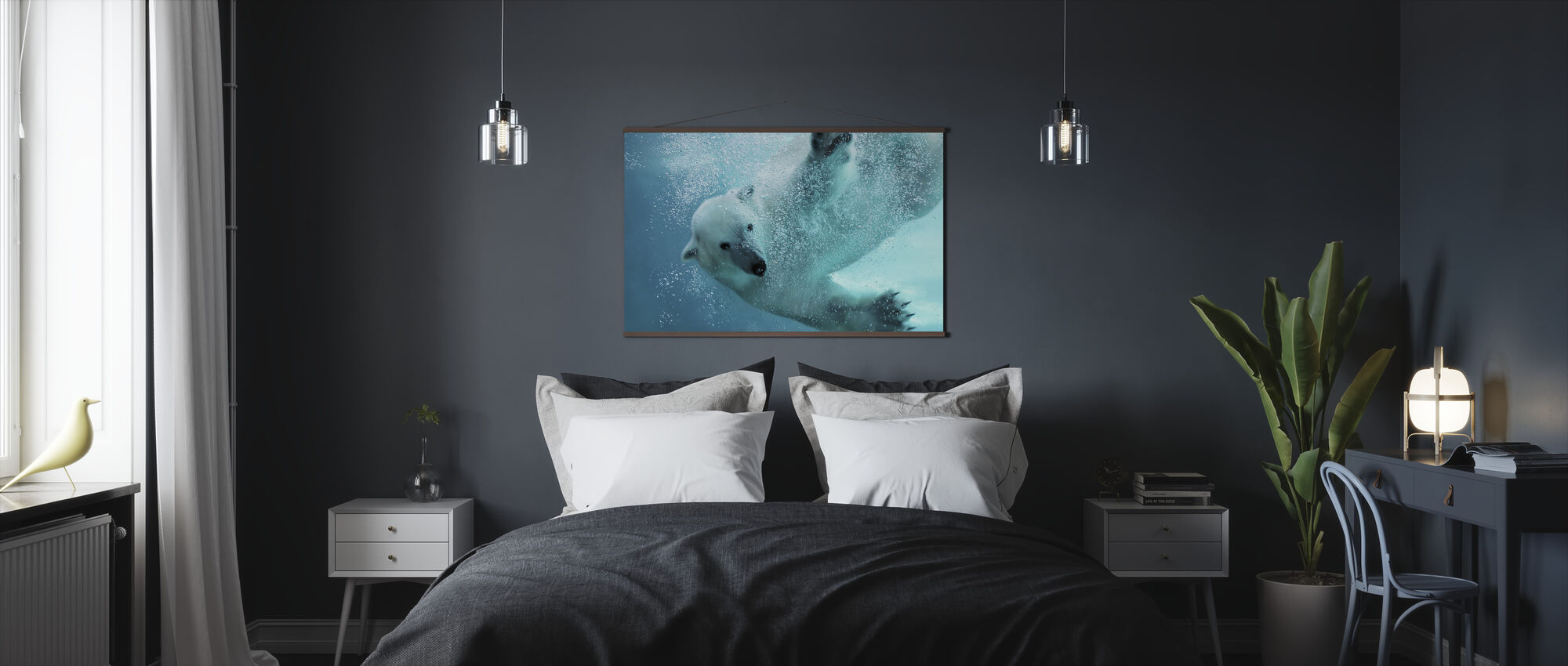 Underwater Polar Bear - Poster - Bedroom