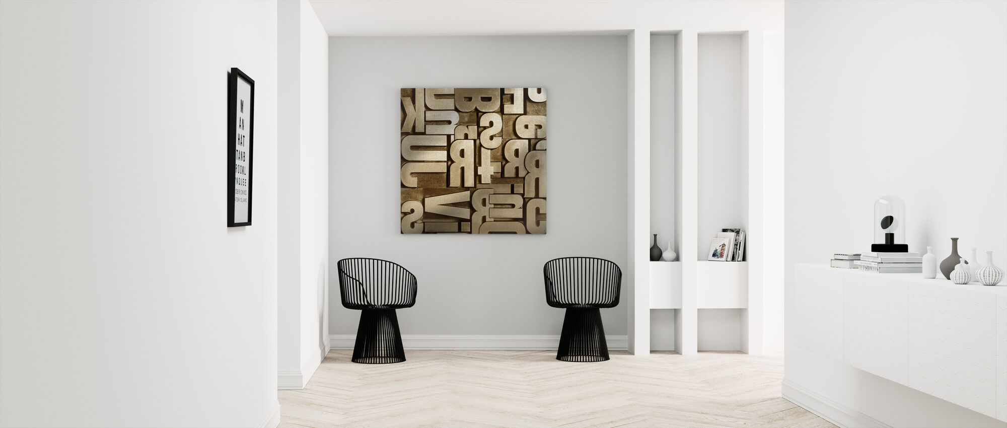 Typographic Appearance - Canvas print - Hallway
