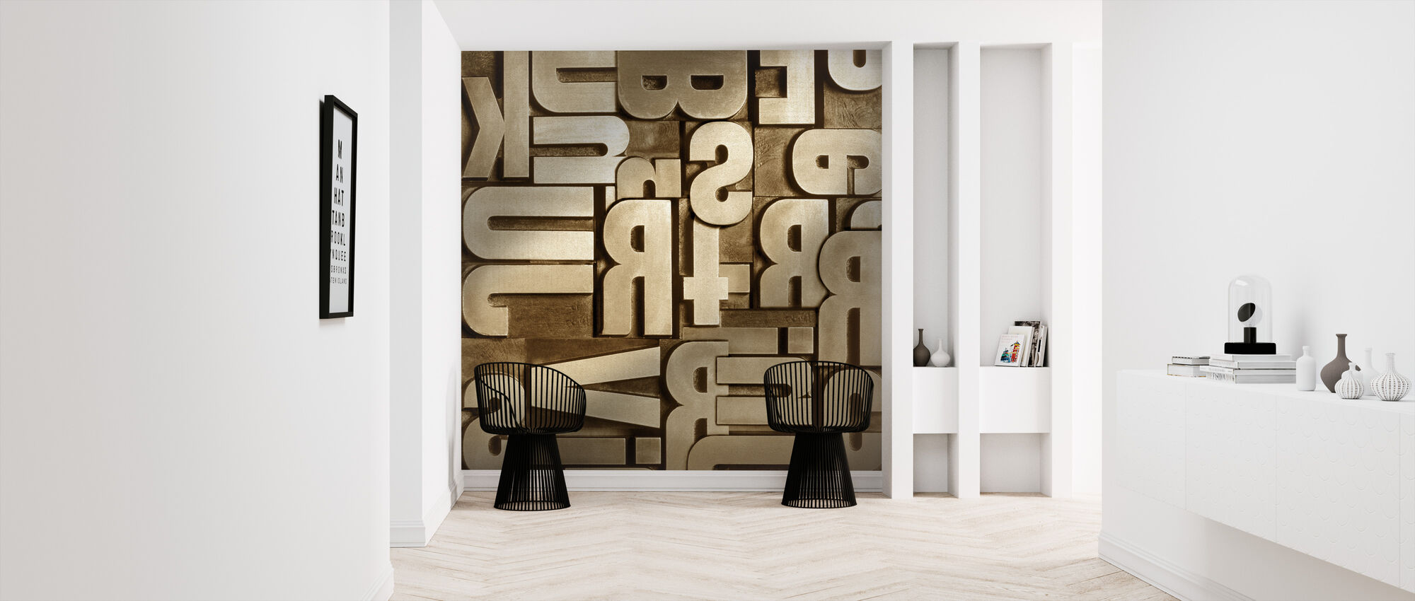Typographic Appearance - Wallpaper - Hallway