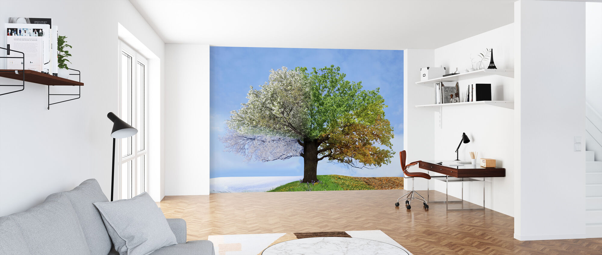 Tree Of Four Seasons Affordable Wall Mural Photowall