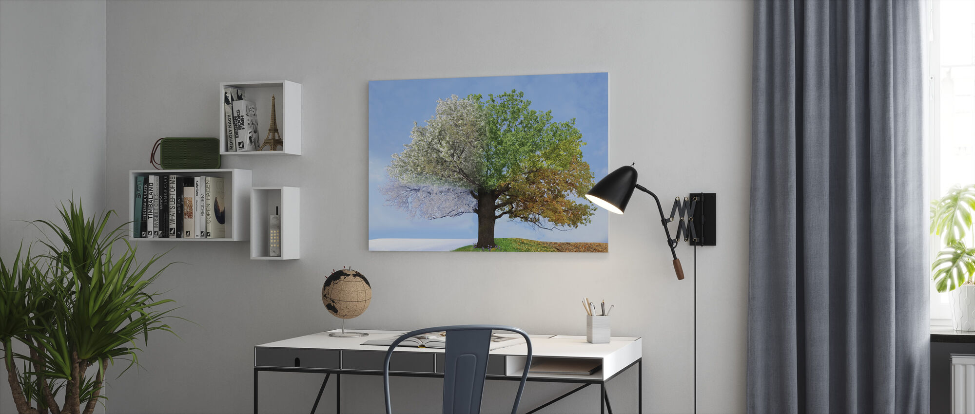 Tree of Four Seasons - Canvas print - Office