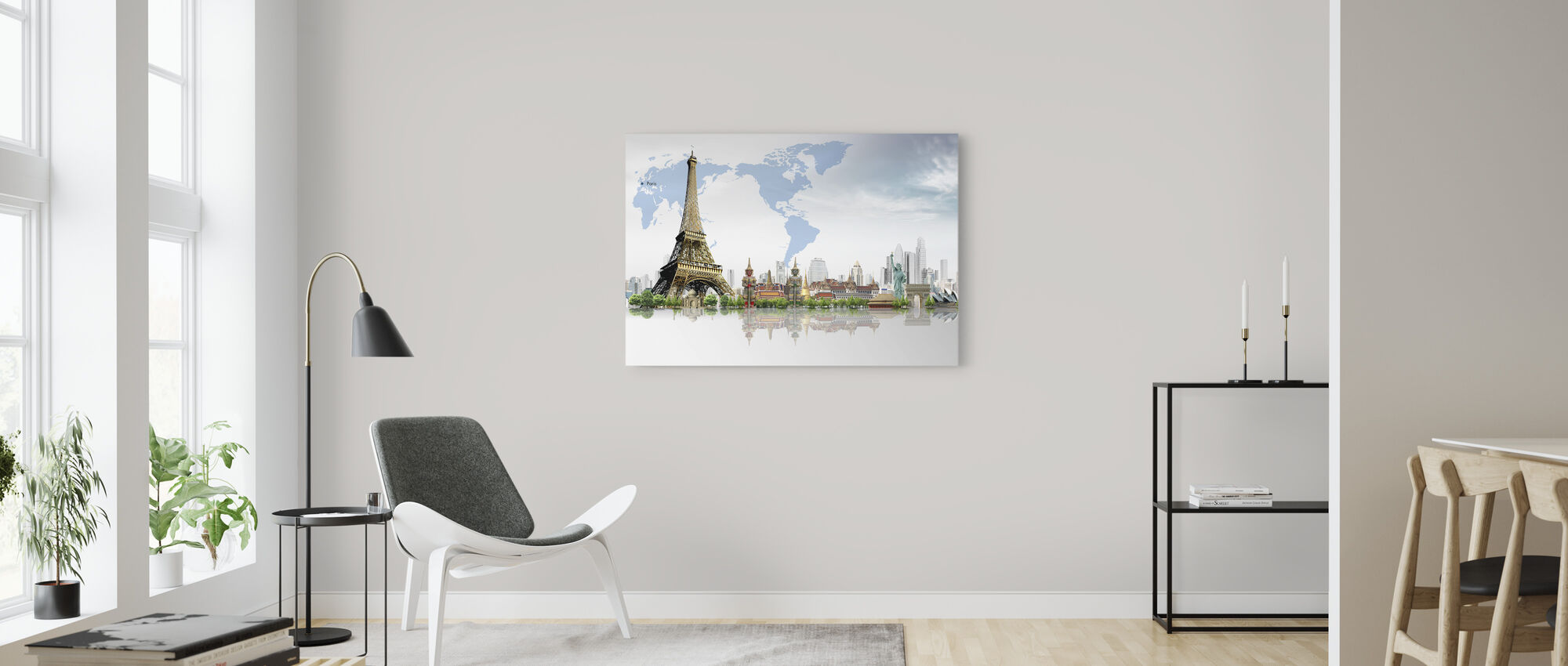 Travel Concept - Canvas print - Living Room