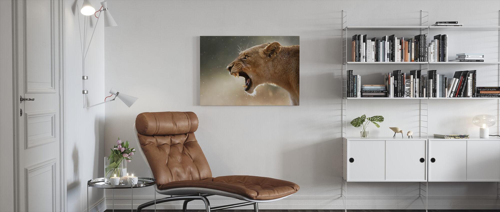 The Lions Roar - Canvas print - Living Room