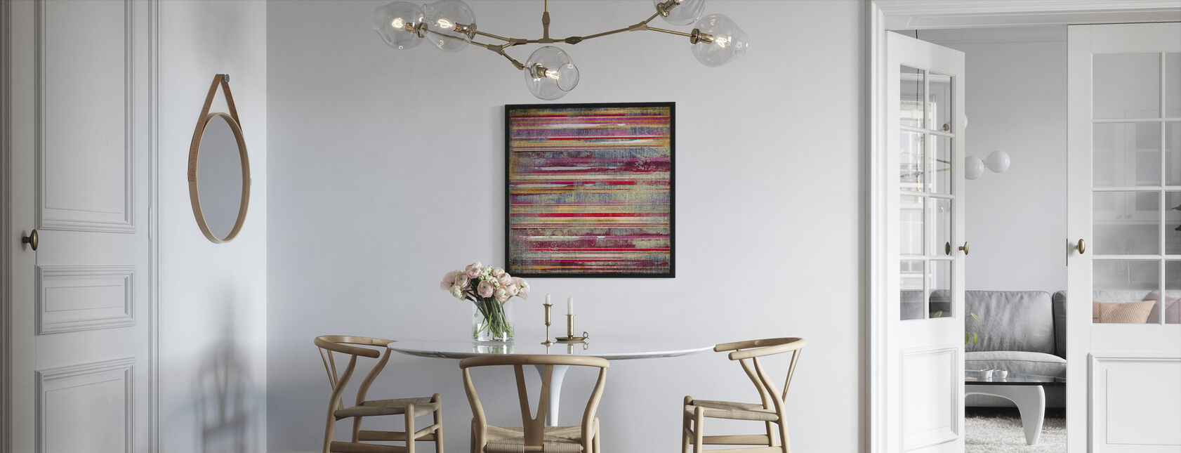 Striped Fabric - Framed print - Kitchen