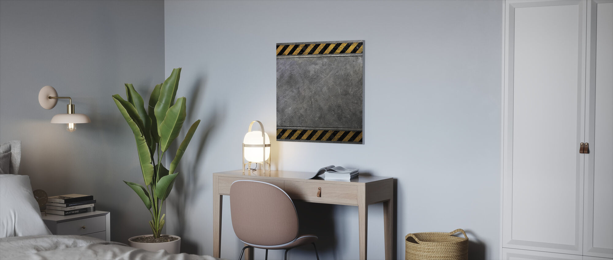 Steel Plate - Canvas print - Office