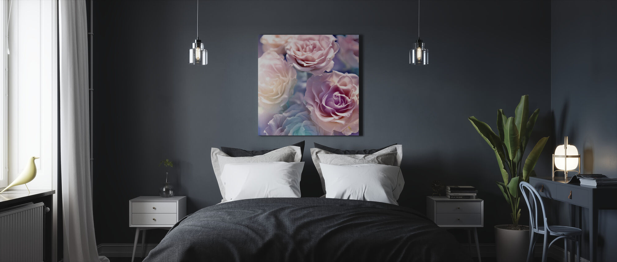 Soft Botanic - Canvas print - Bedroom