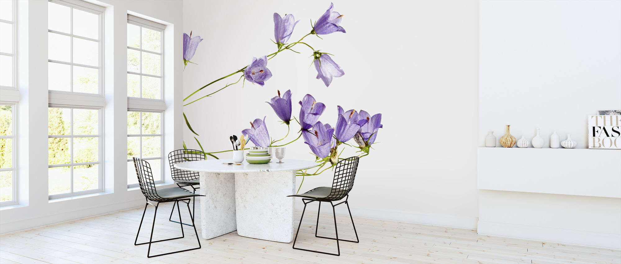 Sheer Blubells - Wallpaper - Kitchen