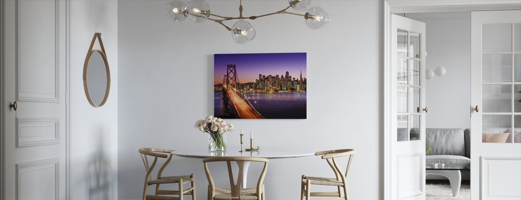 San Francisco Bay Bridge - Canvas print - Kitchen