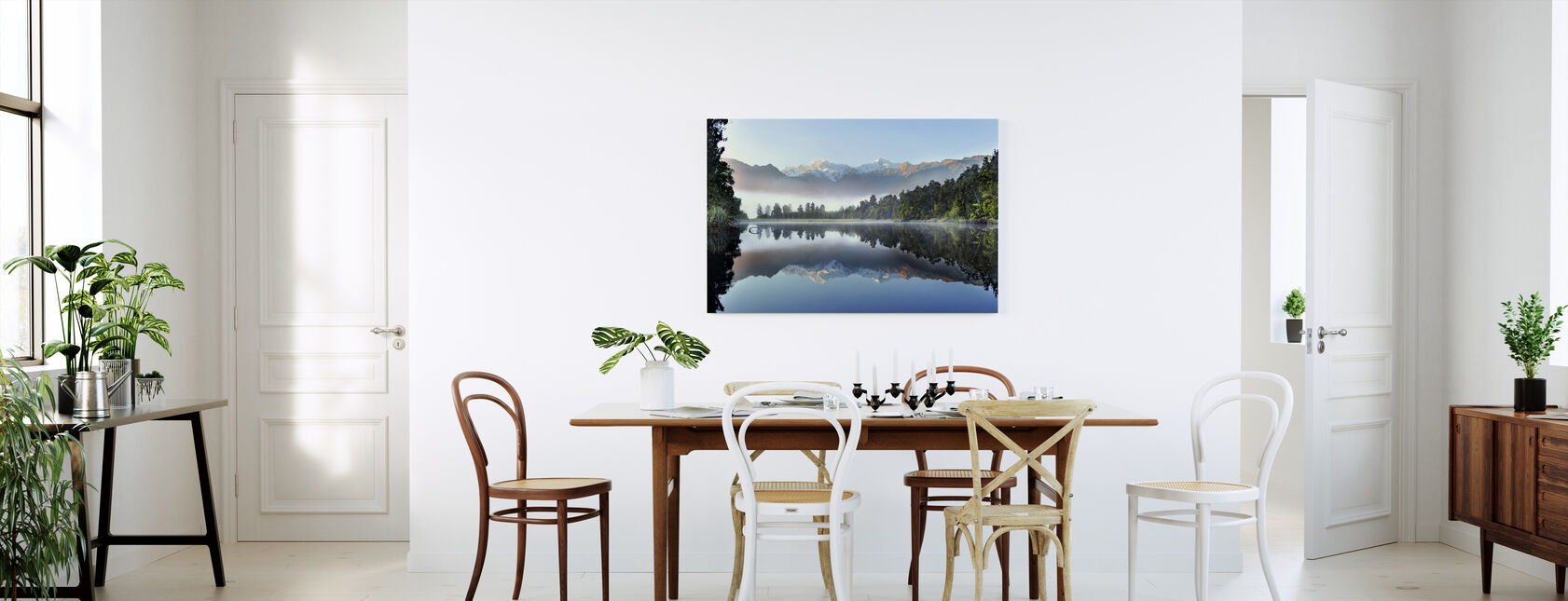 Reflection of Lake Matheson - Canvas print - Kitchen