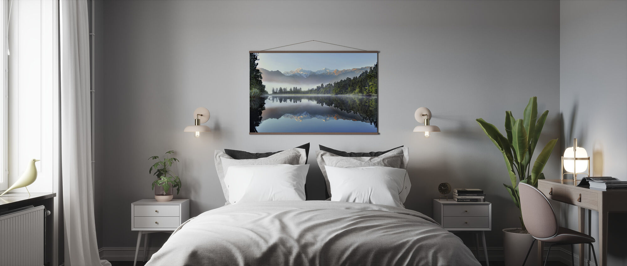 Reflection of Lake Matheson - Poster - Bedroom