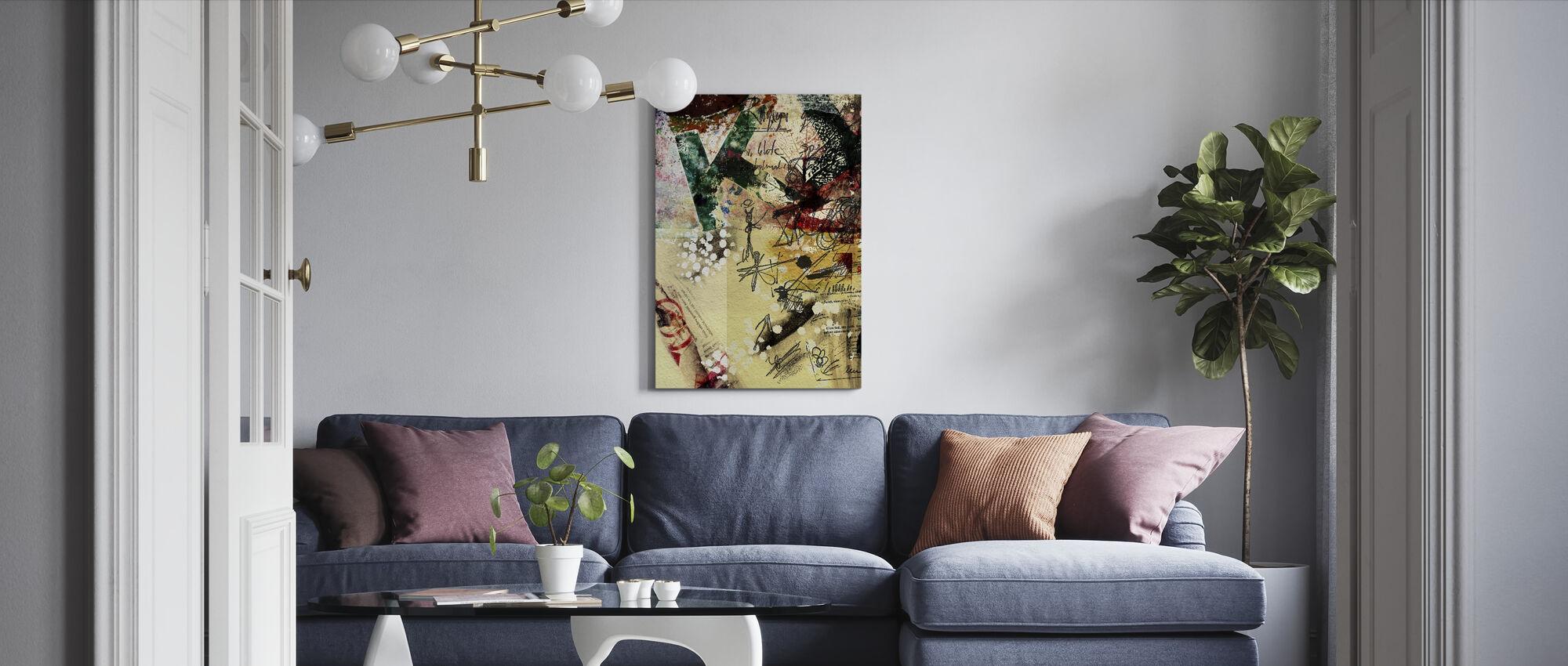 Poster Collage - Leinwandbild - Wohnzimmer